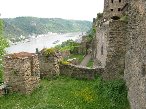 View of the Rhine River Valley from Castle