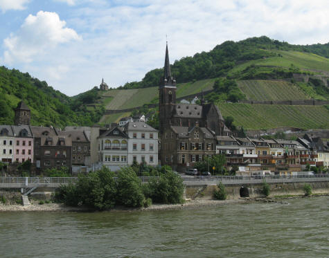 Church near Bacharach Germany - Rhine River